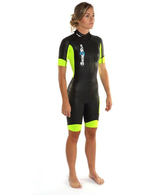 Dare2Tri Swim&Run Go Wetsuit Women black/yellow